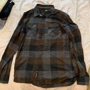 Vans button up long sleeve flannel medium